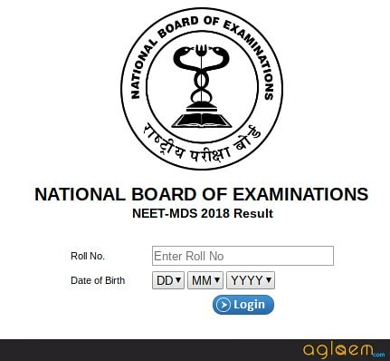 NEET MDS 2019 Result