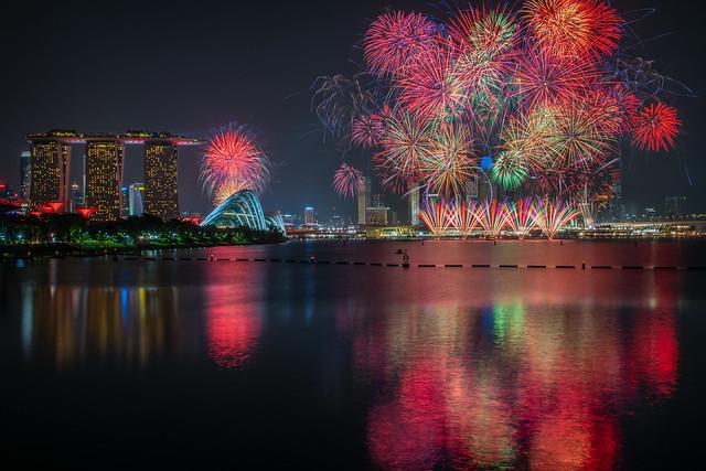 Singapore Formula 1 Grand Prix Fireworks Display