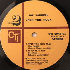 JOE FARRELL:UPON THIS ROCK(LABEL SIDE-B)