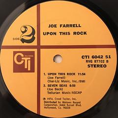 JOE FARRELL:UPON THIS ROCK(LABEL SIDE-B)