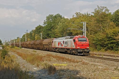 Euro 4017 VFLI Train 60748 Bantzenheim-Oulchy Brény à Bantzenheim