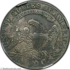 Houck's Panacea on 1833 Half Dollar reverse