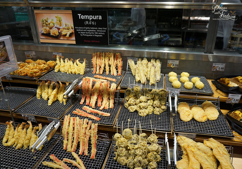 aeon tebrau city tempura section
