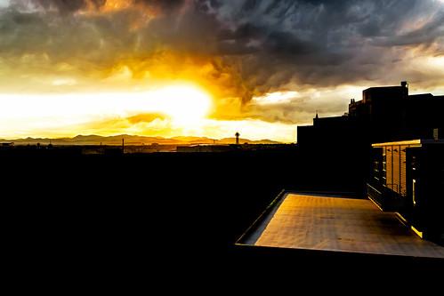 colorado denver silhouette sky skyline sunset