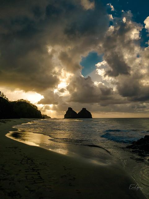 Sunset - Fernando Noronha/PE - Brazil - Sky, Sea, Clouds, Waves