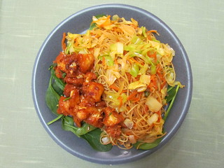 Jewels of India Menu: Manchurian Caulifloer; Hakka Noodles