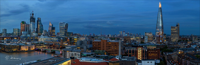 When the night falls over London.