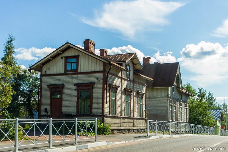 Старые деревянные дома, Сортавала, Карелия