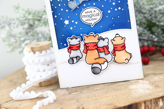 gift tags and winter skies (Lawn Fawn inspiration week)