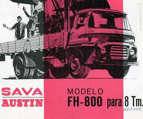 portada catàleg camió Sava Austin FH-800 1965