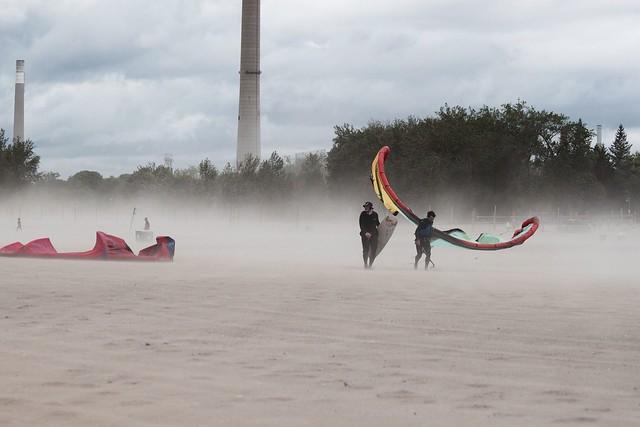 windy woodbine beach