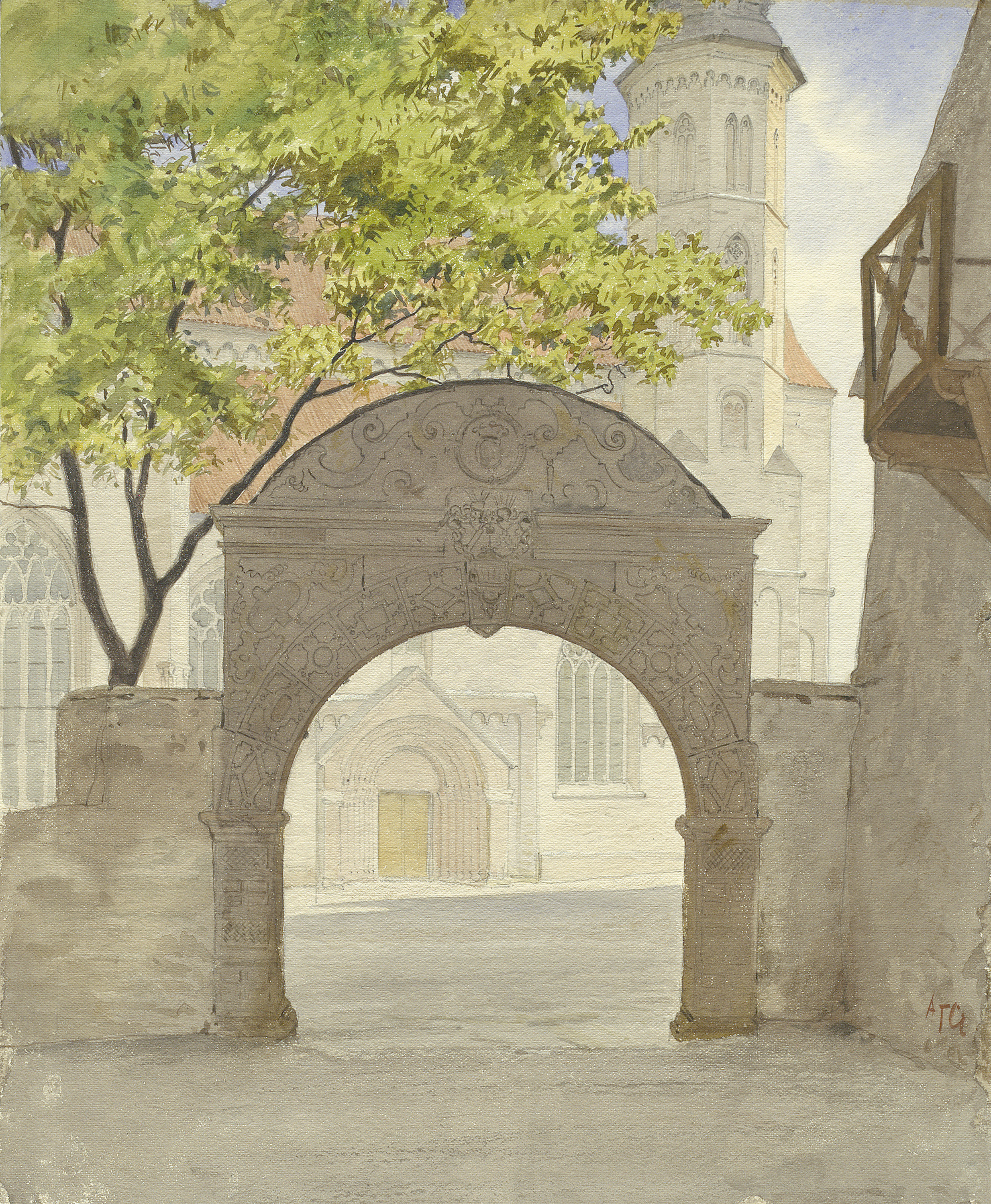 Gateway to Visby Cathedral's churchyard, Gotland, Sweden