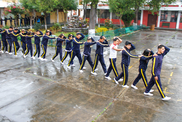 Simulacro de Evacuación Colegio Central Técnico Quito