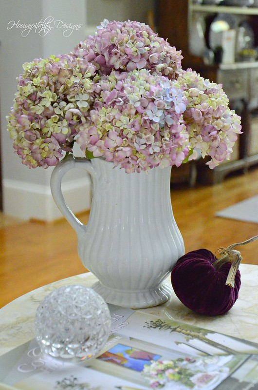 Hydrangeas in Ironstone-Housepitality Designs