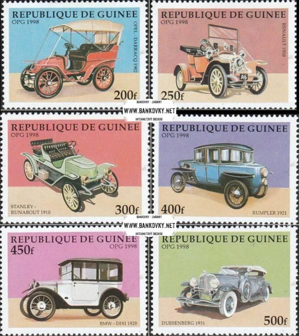 Známky Guinea 1998 Staré autá, MNH nerazítkovaná séria