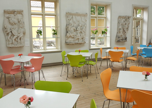 The bright cafe in the Silkeborg Museum
