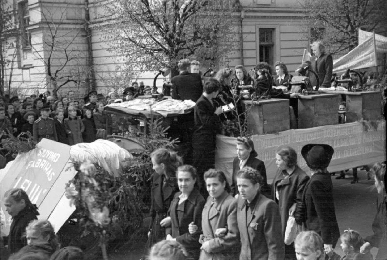 1950. Первомайская демонстрация в Вильнюсе