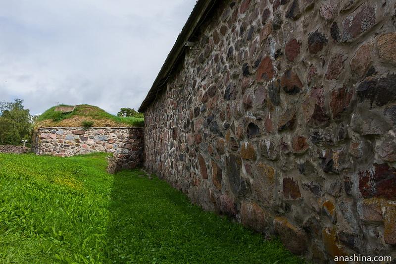 Крепостные стены, крепость Корела в Приозерске