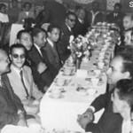 المتنيح يوسف حبيب نراه أول شخص في اليسار في حفل في الخمسينيات من القرن الماضي