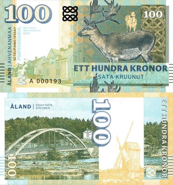 Åland Islands 100 Kronor 2018