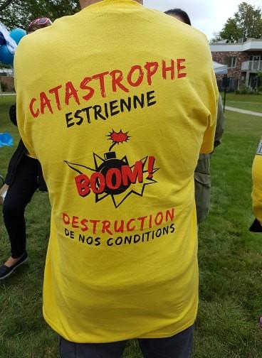 2018-09-19 - Manifestation dans les Cantons de l'Est