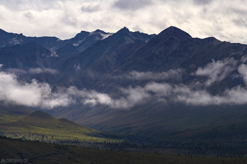 Mountains and clouds - Alaska