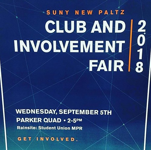 Don't forget to head to the Club and Involvement Fair later today in Parker Quad. #npsocial #newpaltz #sunynewpaltz