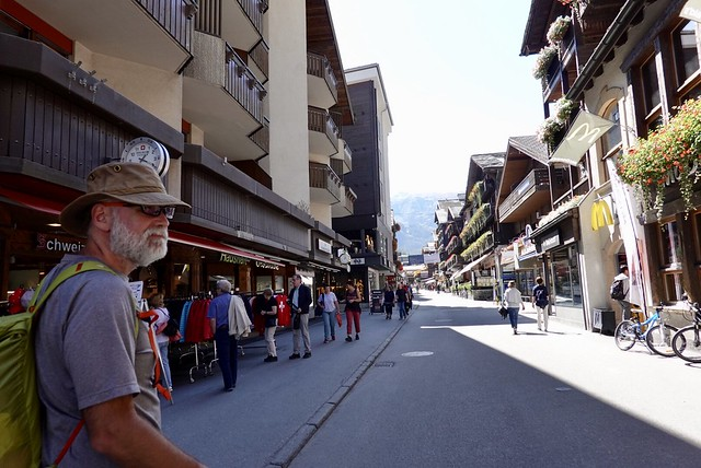 The car-free streets of Zermatt