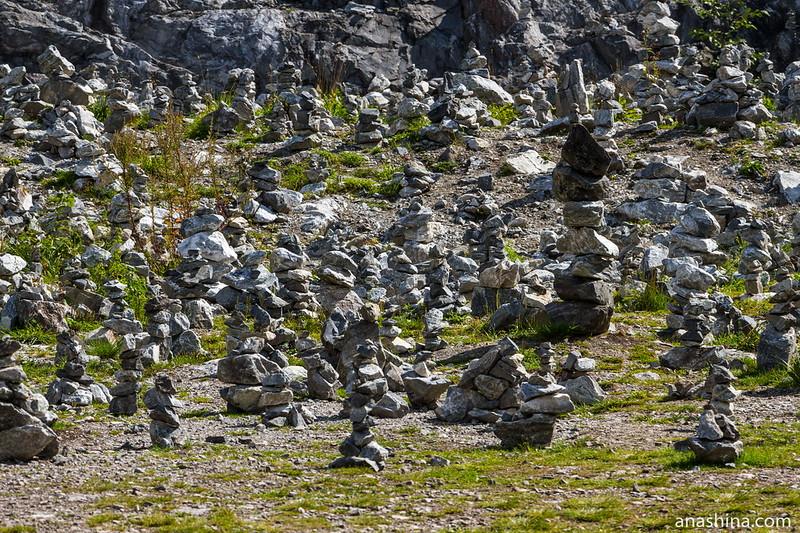 Каменные пирамидки на Белой горе, Горный парк Рускеала