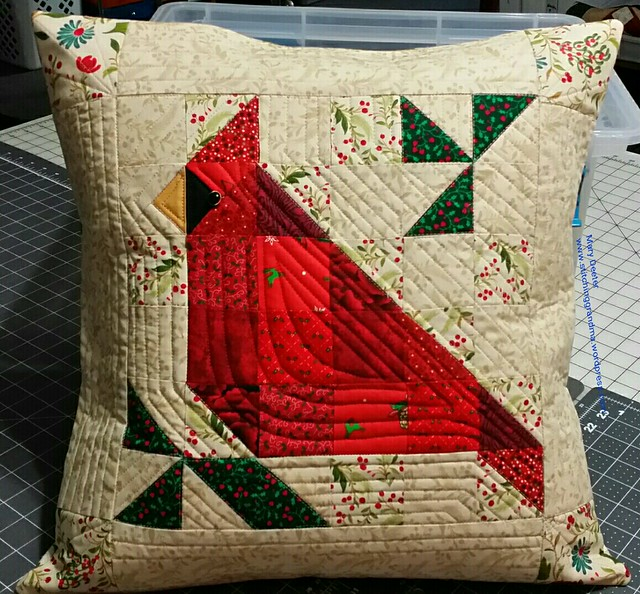Cardinal Pillow finished
