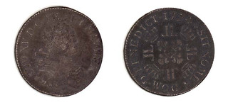 Coin from the wreck of Le Chameau