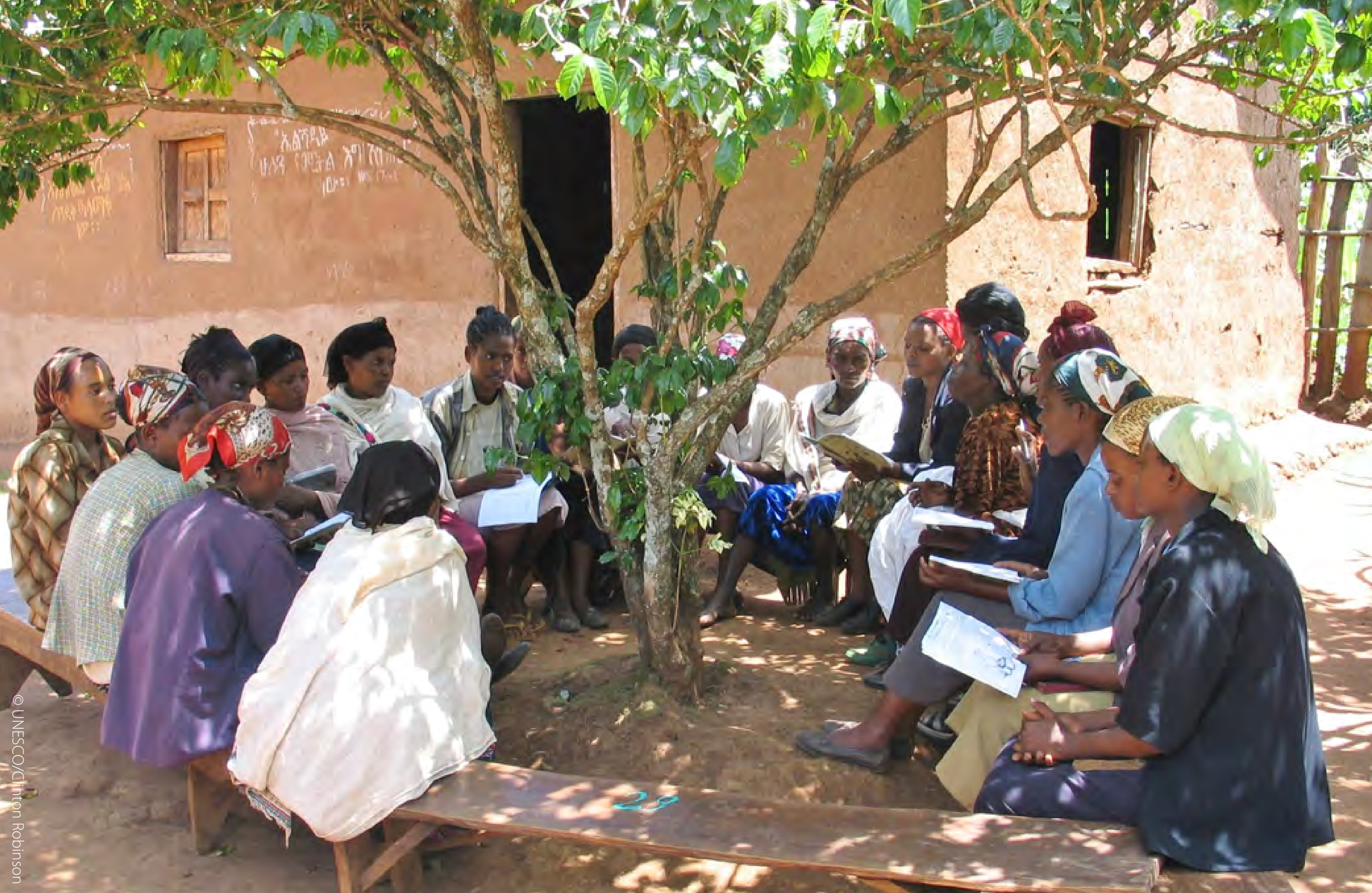 A group reading session in Ethiopia, 2016. Photo courtesy of UNESCO.