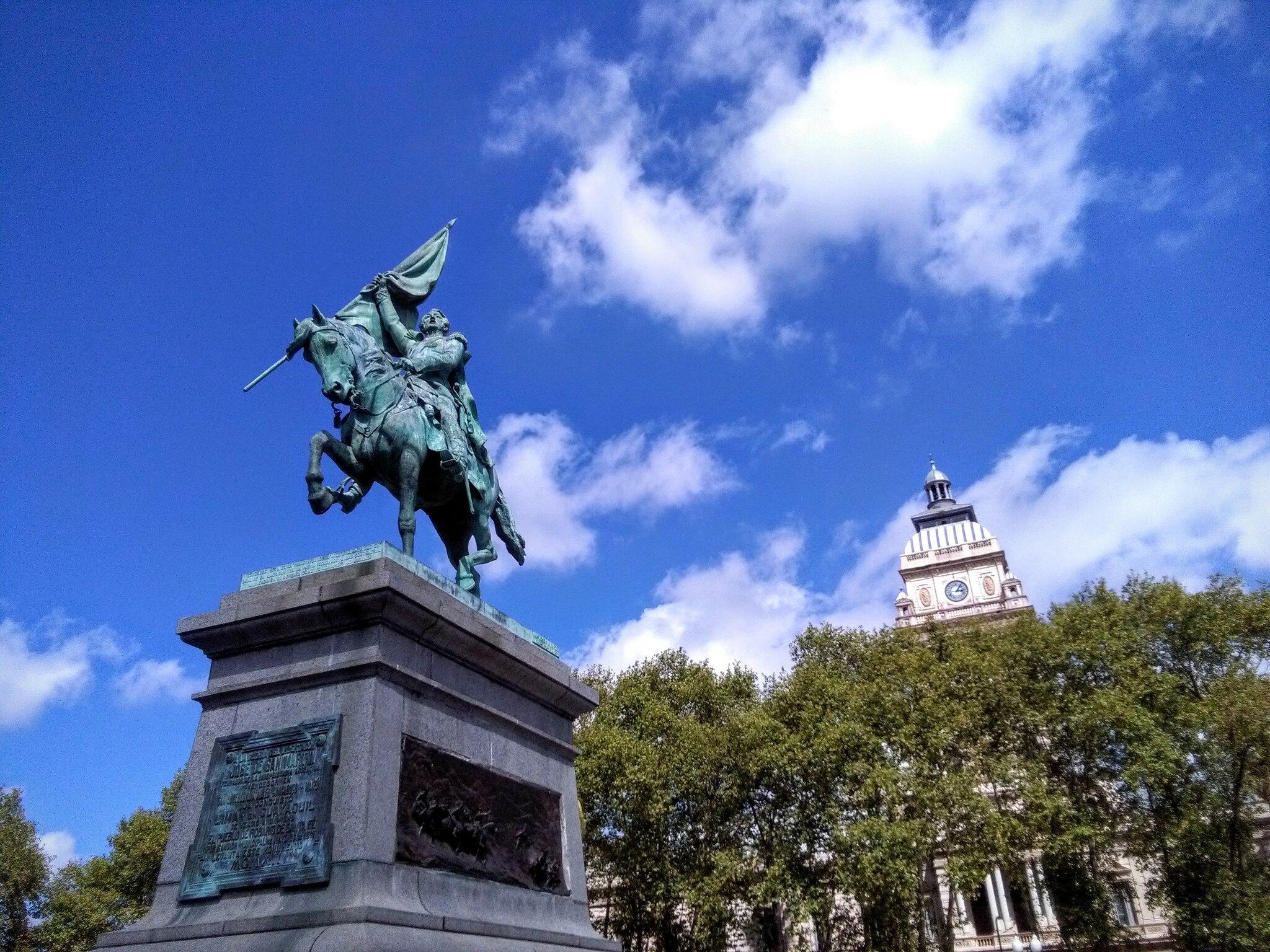 The statue in Rosario's Plaza San Martín