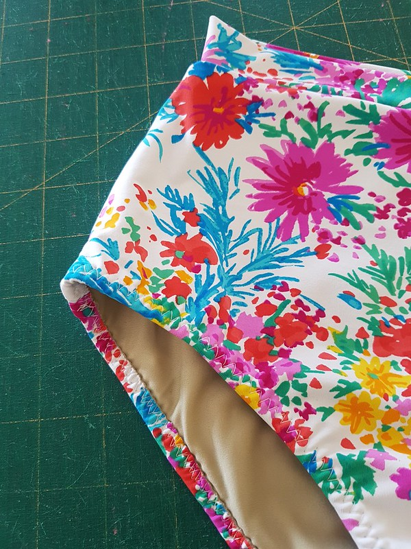 Vernazza two-piece in swimwear fabric from Rathdowne Fabrics