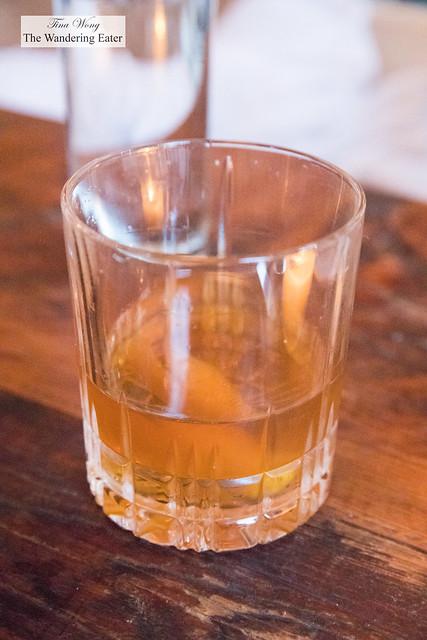 1859 Sazerac (Rye whiskey, Herbsaint, demerara syrup, Angostura bitters)
