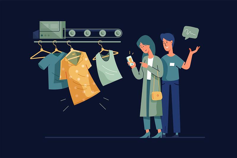 Online Shopping Image Blue
