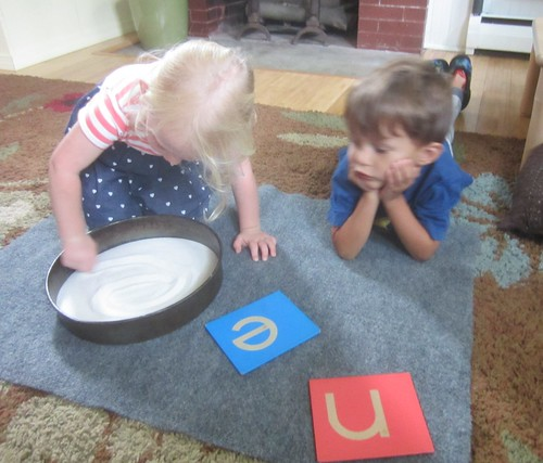 n and e letter work