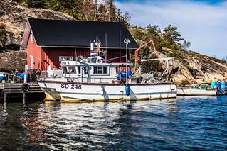 Swedish fishing boat in September