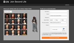 New Second Life Join Page