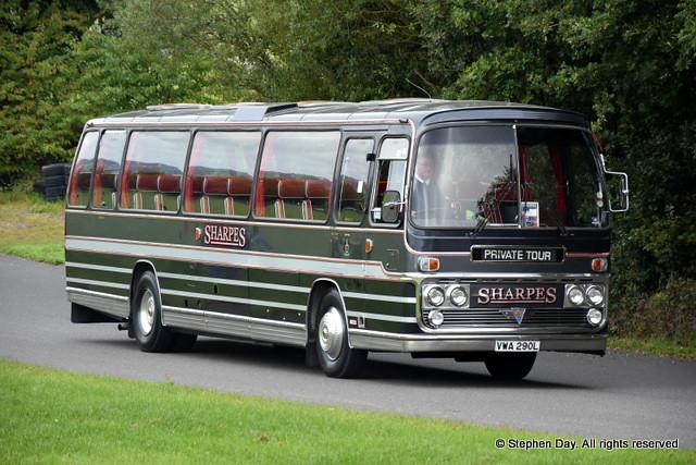 Sharpes of Nottingham  `VWA293L AEC Reliance Plaxton Panorama Elite III built 1973. Showbus Donington Park 17.9.17