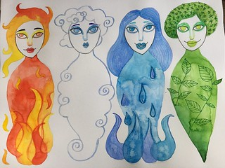 33 - Four Elements Sprites - Art Journal Page