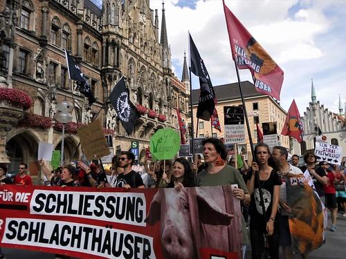 München für die Schließung aller Schlachthäuser 2018
