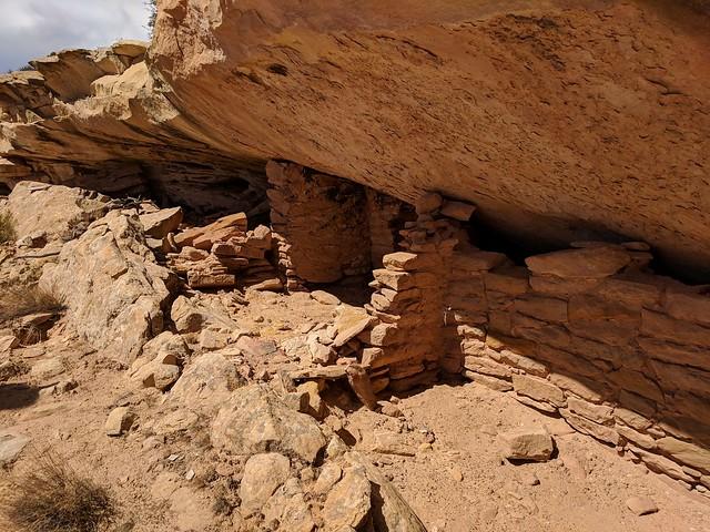 lower walls of split level ruin