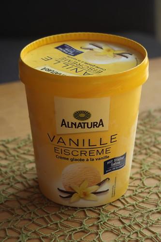 Vanilleeis (von Alnatura)