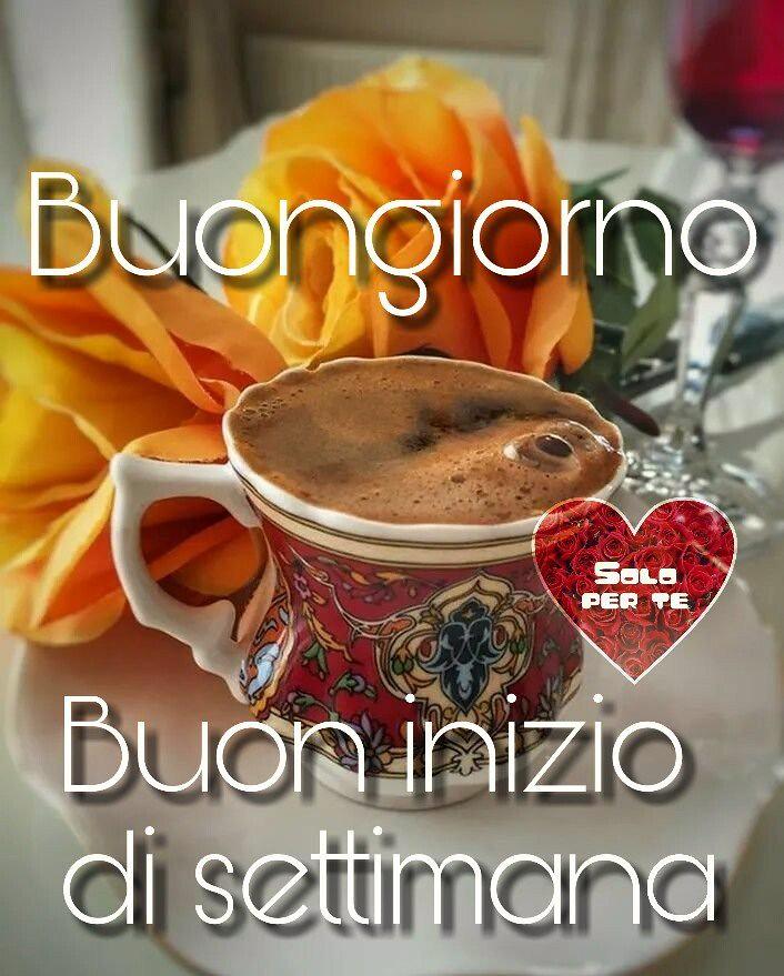 Buongiorno Buon Inizio Di Settimana Coffe Flowers Flickr