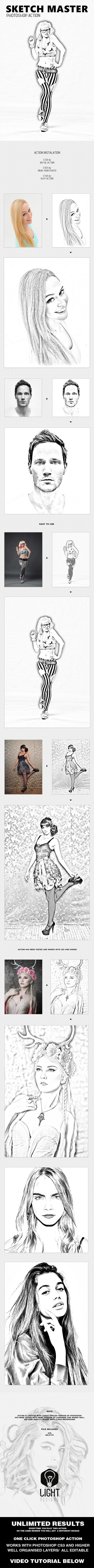 Sketch Master - Photoshop Action 15970140