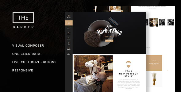 The Barber Shop v1.8 – One Page Theme For Hair Salon