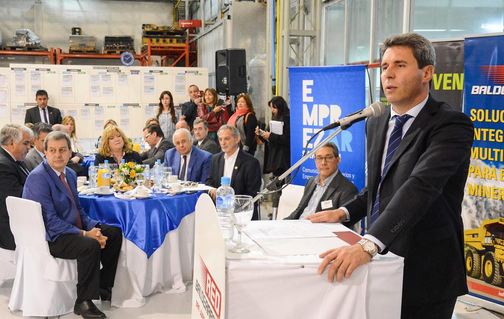 San Juan: El gobernador Sergio Uñac participó en los festejos en el Día de la Industria