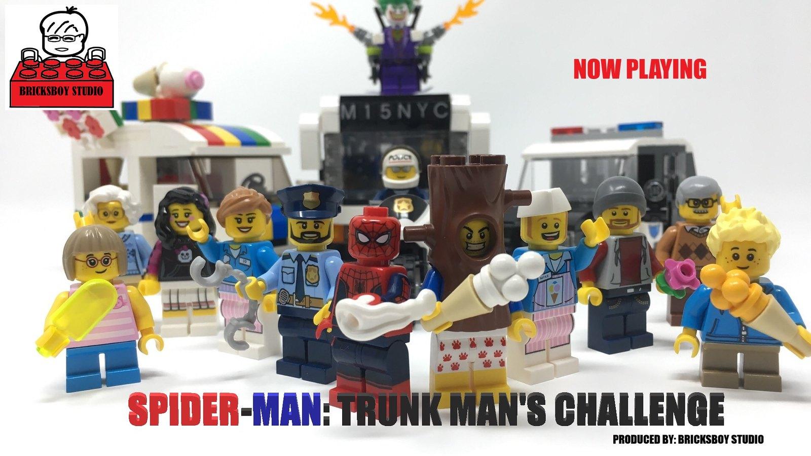 """""""Spider-Man: Trunk Man's Challenge"""" - LEGO Stop Motion Movie #4"""