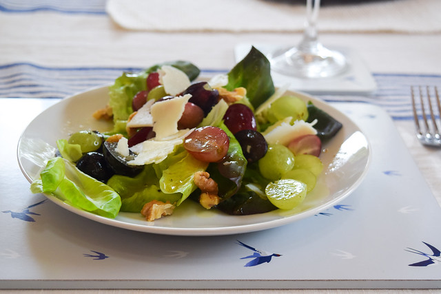 Grape, Walnut and Pecorino Salad